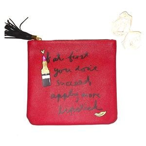 💄NWOT Cute Red Cosmetic bag/pouch